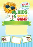 Summer Kid Camp Template Royalty Free Stock Photography