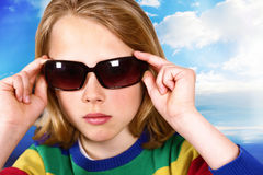 Summer kid fashion Stock Images