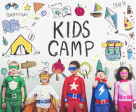 Summer Kids Camp Adventure Explore Concept Stock Image