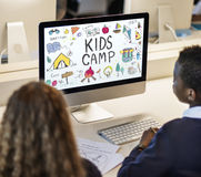 Summer Kids Camp Adventure Explore Concept Stock Photography