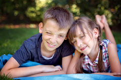 Summer kids portrait Royalty Free Stock Photos