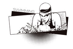 Summer kinds of sports. Swimming Royalty Free Stock Photography