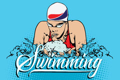 Summer kinds of sports. Swimming Royalty Free Stock Photos