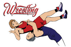 Summer kinds of sports. Wrestling Royalty Free Stock Photos