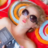 Summer kiss. Royalty Free Stock Images