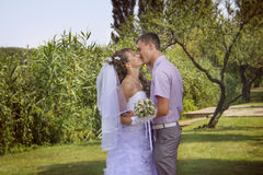 Summer kissing Royalty Free Stock Images