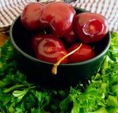 Summer kitchen. Cherries to eat Stock Photo