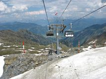 Summer on the  Kitzsteinhorn Glacier Royalty Free Stock Photo