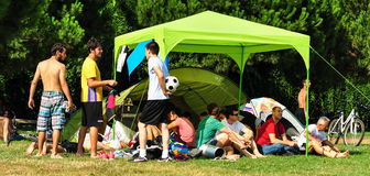 Summer Korfball Event In Istanbul Royalty Free Stock Images