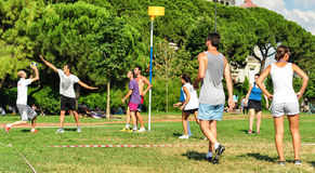Summer Korfball Event In Istanbul Stock Photography