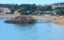 Summer La Fosca beach, Palamos, Spain. Royalty Free Stock Images