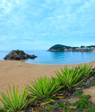 Summer La Fosca beach, Palamos, Spain. Stock Images