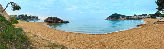Summer La Fosca beach, Palamos, Spain. Stock Image