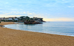 Summer La Fosca beach, Palamos, Spain. Stock Photo