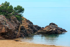 Summer La Fosca beach, Palamos, Spain. Stock Photos