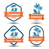 Summer Label Stock Images