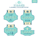 Summer label collection Stock Photography