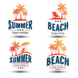 Summer label Royalty Free Stock Photos