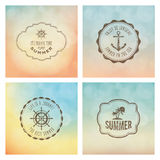 Summer labels Royalty Free Stock Image