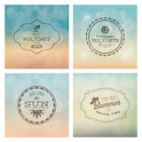 Summer labels Royalty Free Stock Photography
