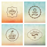 Summer labels Royalty Free Stock Photos