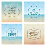 Summer labels Royalty Free Stock Images