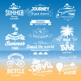 Summer labels set Royalty Free Stock Photography