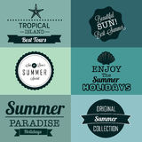 Summer labels Stock Photography