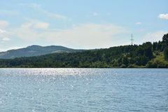 Summer landscape with river Beresh royalty free stock image