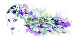 Summer Lady Royalty Free Stock Image