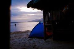 Summer at Laiya, San Juan, Batagas.  royalty free stock photography