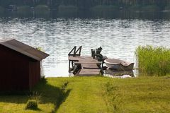 Summer by lake Stock Photography