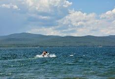 Lake Bolshoe Sharypovo district, Krasnoyarsk region, Russia royalty free stock photos