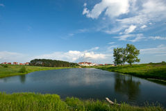 Summer lake and forest view. Royalty Free Stock Photography