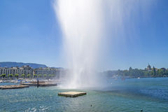 Summer on the lake Geneva (Leman ),in the harbor of  Geneva ,Switzerland Royalty Free Stock Photo