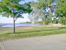 Summer on Lake; Kenosha,  Wisconsin. Summer lakefront daytime Stock Image