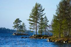Summer lake in Lapland, Finland. Summer with lake in Lapland, Finland stock photography