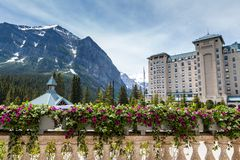 Summer in Lake Louise, Alberta, Canada Stock Photo