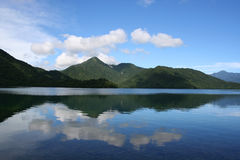 Summer Lake in nikkou,Japan. A beautiful lake named Chu-Zenjiko,which lies in Nikkou, one of the most famous sightseeing spot in Japan Royalty Free Stock Images