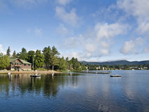 Summer in Lake Placid royalty free stock photography