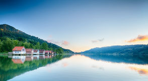 Summer Lake Reflections - Alpsee, Germany Stock Images