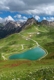 Summer at the lake Riezler Alpsee Royalty Free Stock Photography