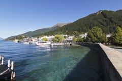 Summer Lake Wakatipu and Queenstown, New Zealand Stock Photos
