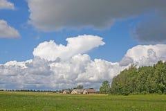 Summer land sky horizon Stock Photography
