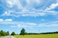 Summer landscape. With road Stock Images