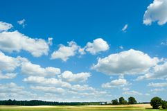 Summer landscape. With clouds Royalty Free Stock Photo