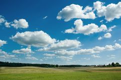Summer landscape. With clouds Royalty Free Stock Photos