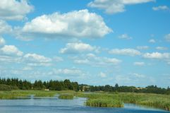 Summer landscape. With clouds Stock Images