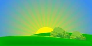 Summer landscape. Collection of vector illustrations of summer royalty free illustration