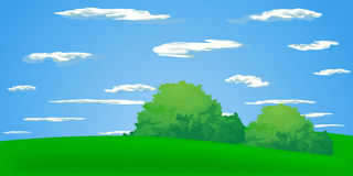 Summer landscape. Collection of vector illustrations of summer Royalty Free Stock Photos